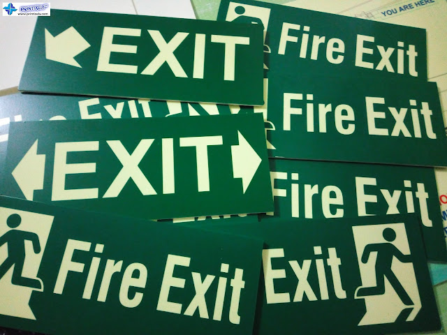 Fire Exit Signs - Glow in the Dark