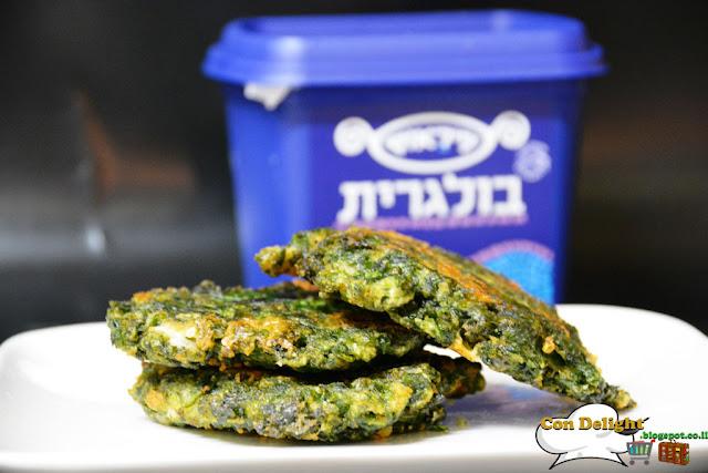 spinach latkes לביבות תרד וגבינה