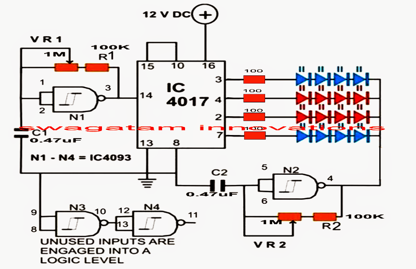 strobe light circuit diagram info led strobe light circuit chasing flashing effects wiring circuit