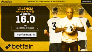 betfair supercuota Valencia gana a Alaves 17 enero