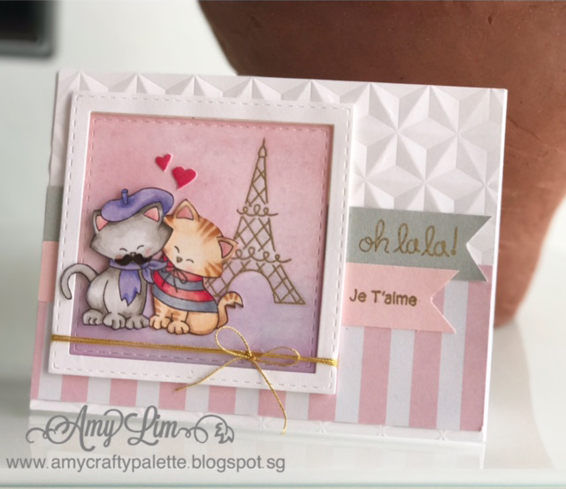 Fan Feature Week | Card by Amy Lim using Newton Dreams of Paris Stamp set by Newton's Nook Designs #newtonsnook