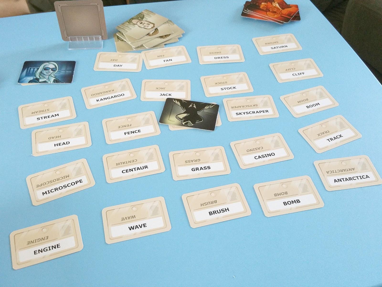 spy card game, Codenames, word card game