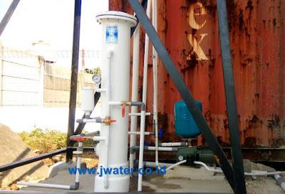 pemasangan filter air sumur bor setelah pompa
