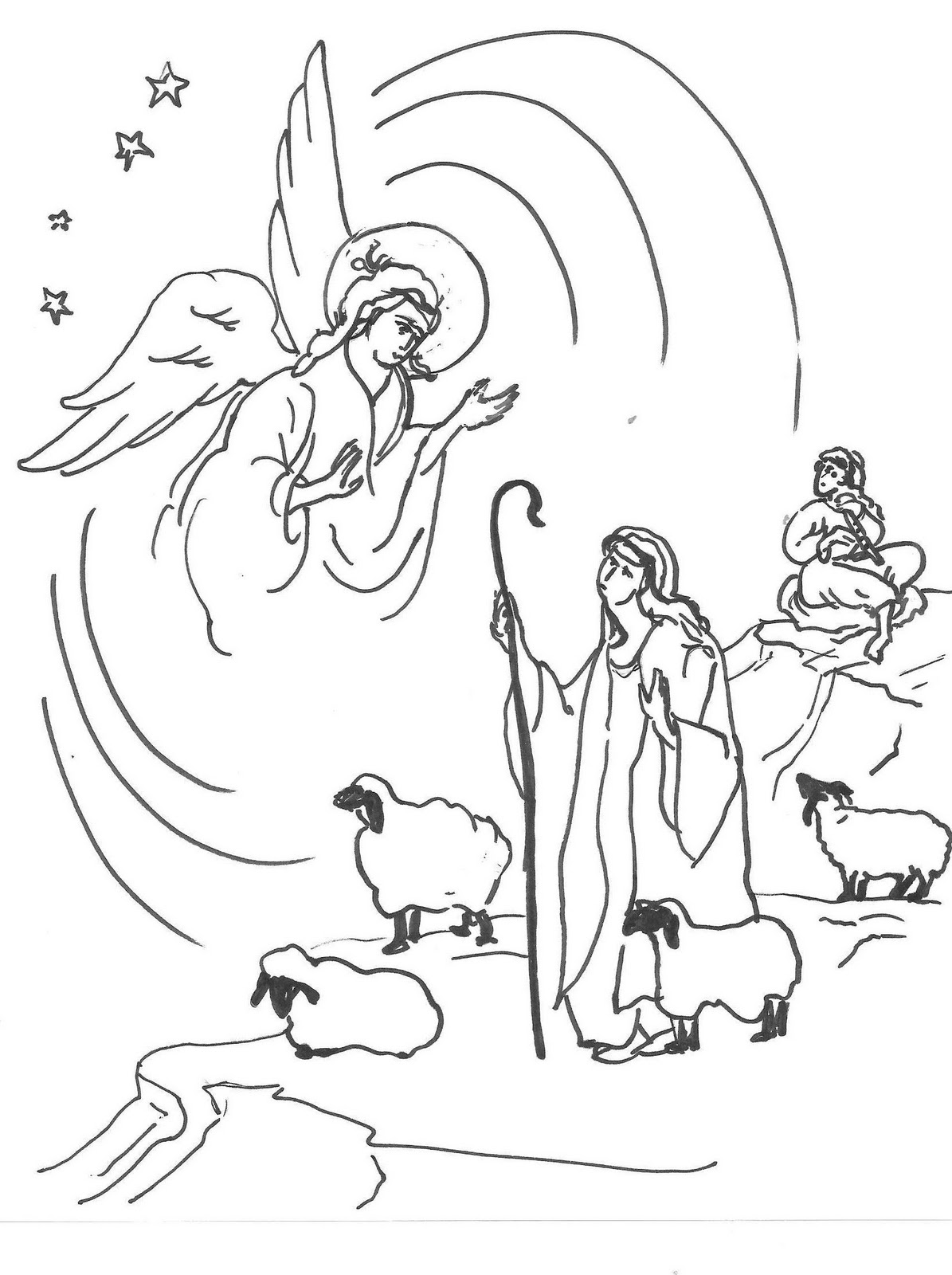 Free christmas shepherds coloring pages ~ Orthodox Christian Education: Christmas Coloring & Symbolism