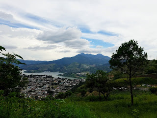 lake and volcano in guatemala