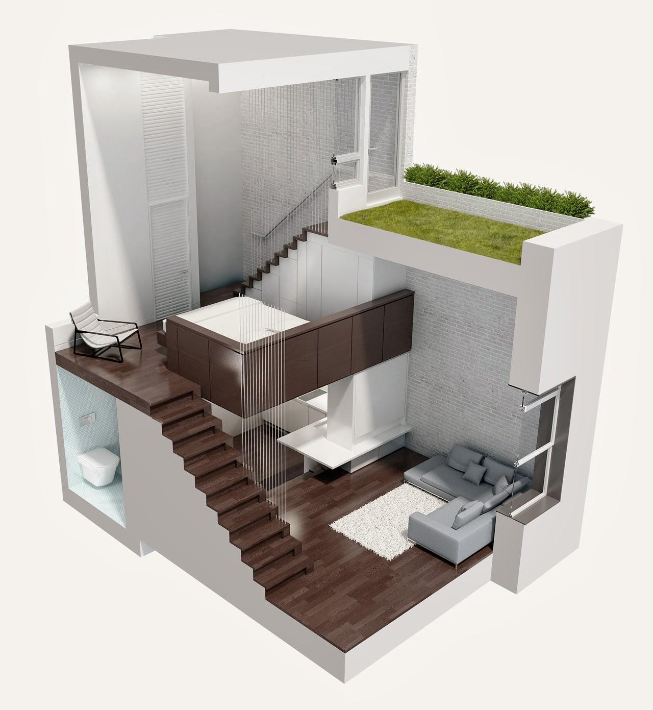 Ruang Tamu Dapur Bilik Mandi Tidur Dan Juga Balkoni Rekaan Perabut Sangat Minimalis Yg Membuatkan Kecil Ini Nampak Luas
