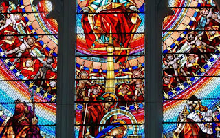 STAINED GLASS OF CHURCH MEDAK