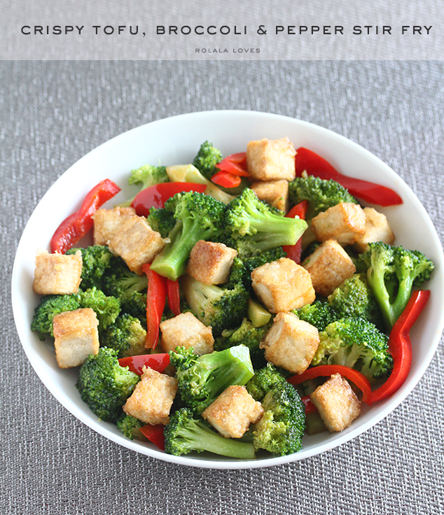 Crispy Tofu, Broccoli and Pepper Stir Fry Recipe | rolala loves