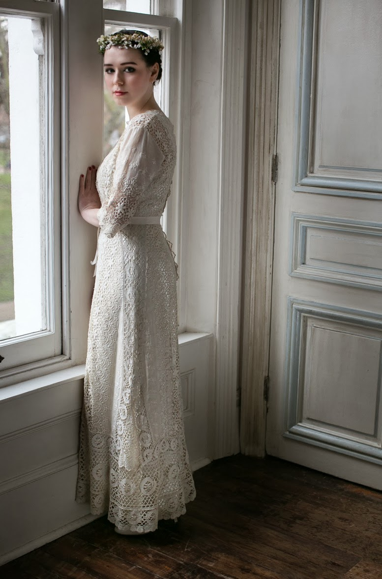 edwardian lace wedding dresses two rare wedding dress Edwardian Wedding Dress 1 with s satin slip price