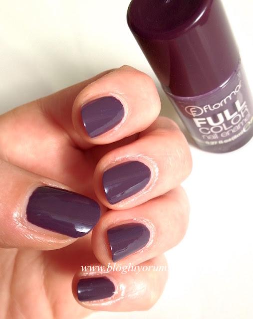 flormar full color nail enamel fc29 mystical getaway mor oje