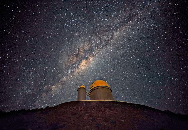 Telescópio de 3,6 metros do ESO, no Chile