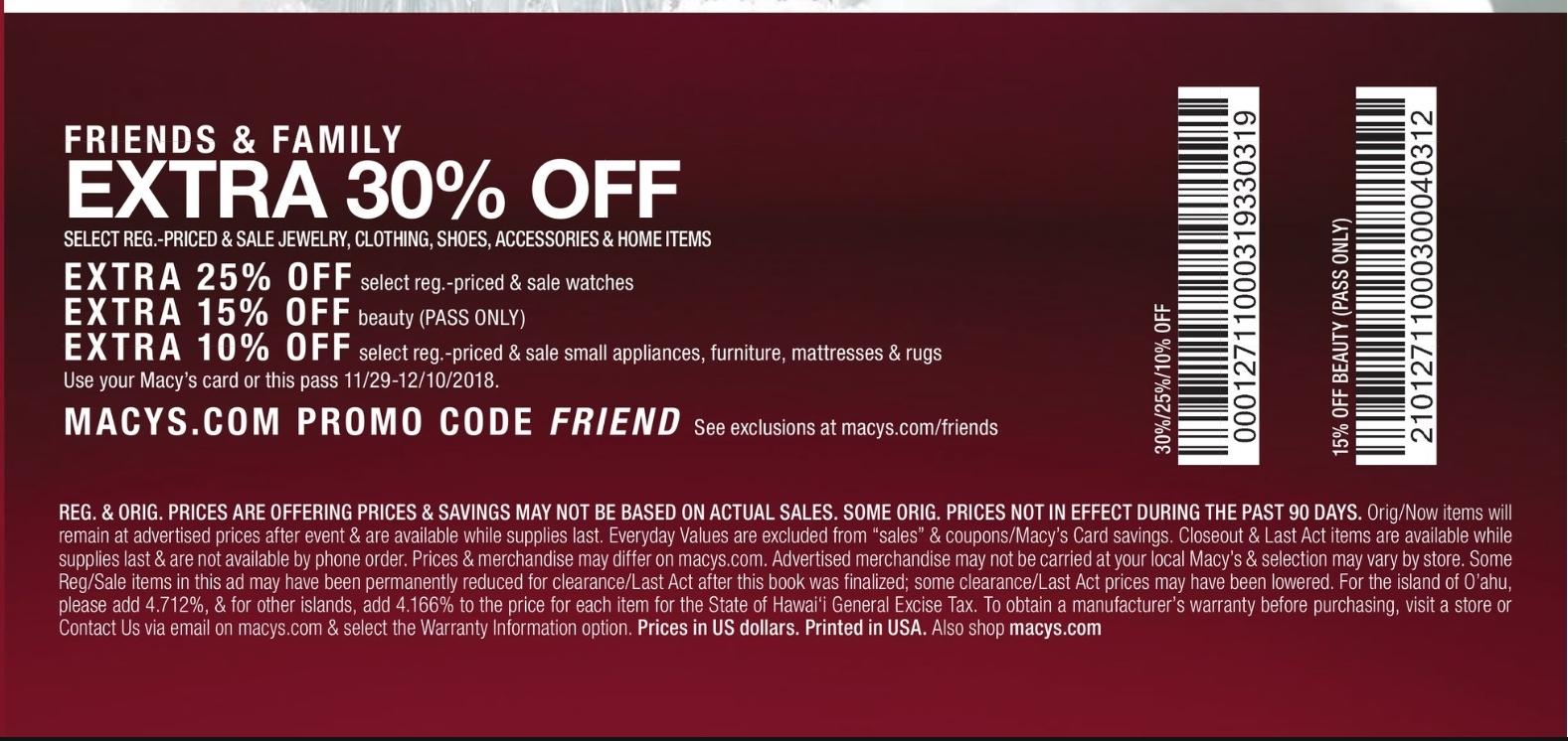 3bb9ab054 Macy's Coupon [December 2018]   Coupon Code Discount