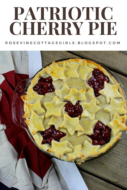 #patriotic #4threcipes #summerrecipes #pies #cherrypie #homemadepiefilling #homemade #cherry #IndependenceDay #Desert #recipe #foodblogger