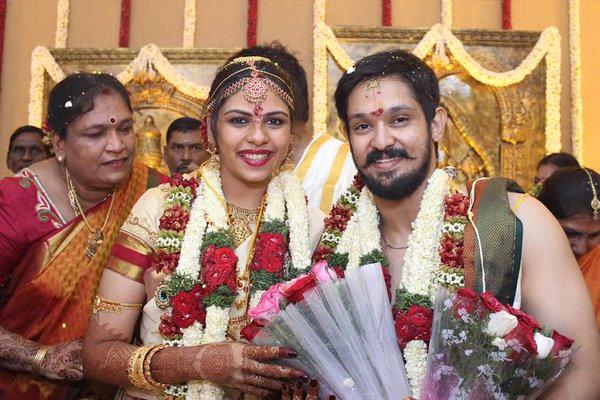 Actor Nakul – Sruthi Wedding Reception Photos