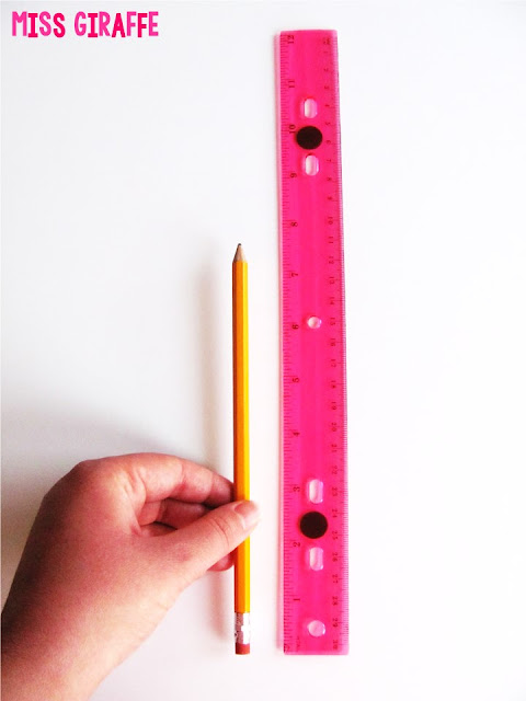 A ton of math teaching tricks like how to add magnets to a ruler so you can teach measuring with a ruler on the whiteboard.