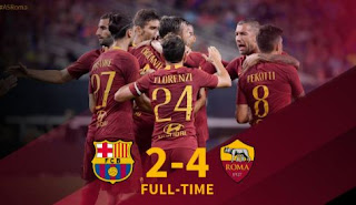 Barcelona vs AS Roma 2-4 Video Gol & Highlights ICC 2018