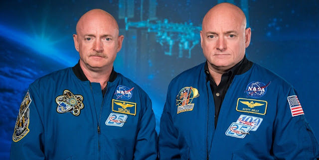 Mark Kelly (left) and Scott Kelly. Credit: Robert Markowitz/NASA