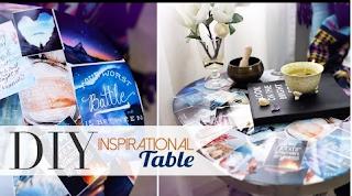 DIY Tumblr Pinterest Collage Table
