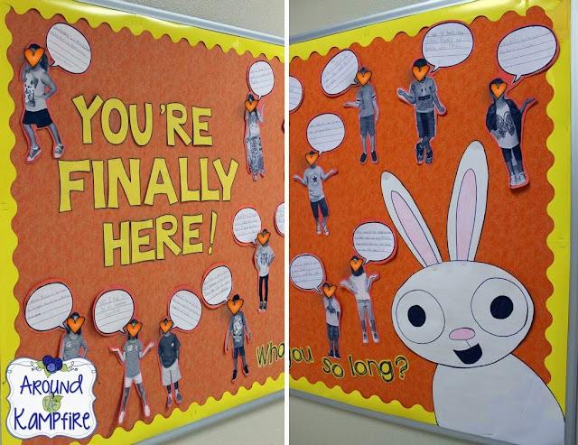 First week of school activities for You're Finally Here! by Melanie Watt