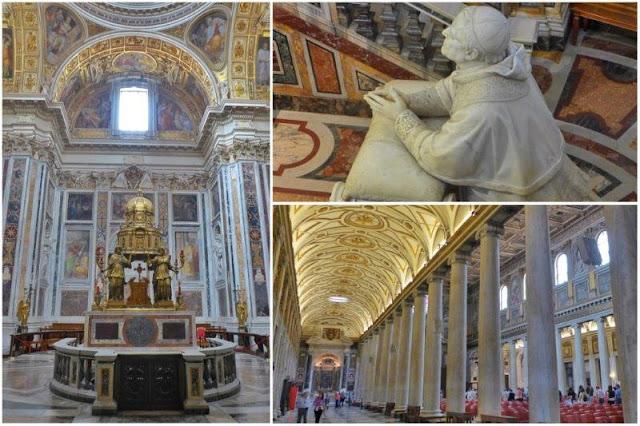 Interior de Santa Maria Maggiore en Roma