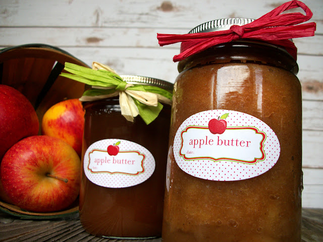 Cute Apple Butter Oval Canning Jar Labels