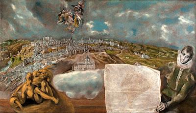 Άποψη και χάρτης του Τολέδο 1610 132 x 228 cm Τολέδο, Museo de El Greco