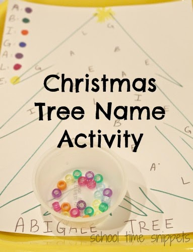 toddler letter matching christmas tree