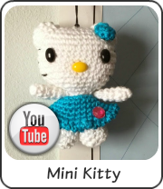 Mini Kello Kitty amigurumi