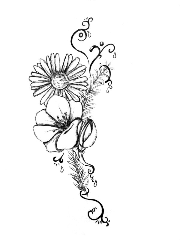Flower Tattoo Outline Designs Botas En Plataforma