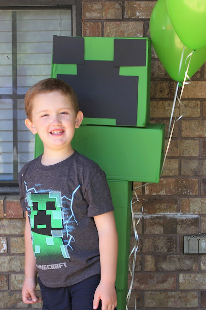 Minecraft Party; Boy Birthday Party; Fifth Birthday