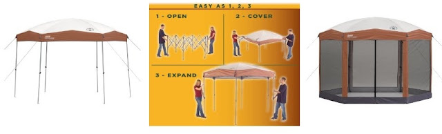 Coleman Hexagon Canopy with optional screened room by dear miss mermaid