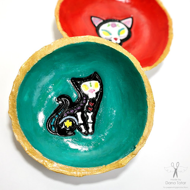 Los Animales Dog Stamped and Painted Clay Trinket Dish by Dana Tatar for Paper Wings Productions