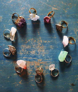 Rough semi precious gemstones