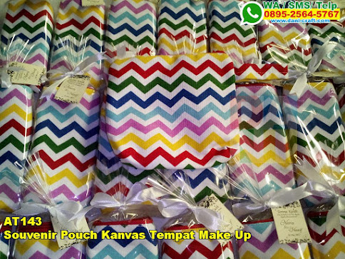 Toko Souvenir Pouch Kanvas Tempat Make Up