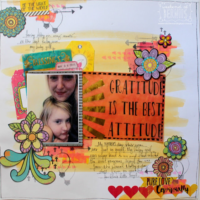 """Blessings"" layout by Bernii Miller for BoBunny using the Believe collection"