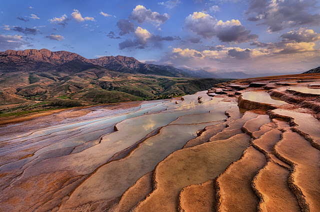 Badab e Surt natural terraces in Mazandaran province.