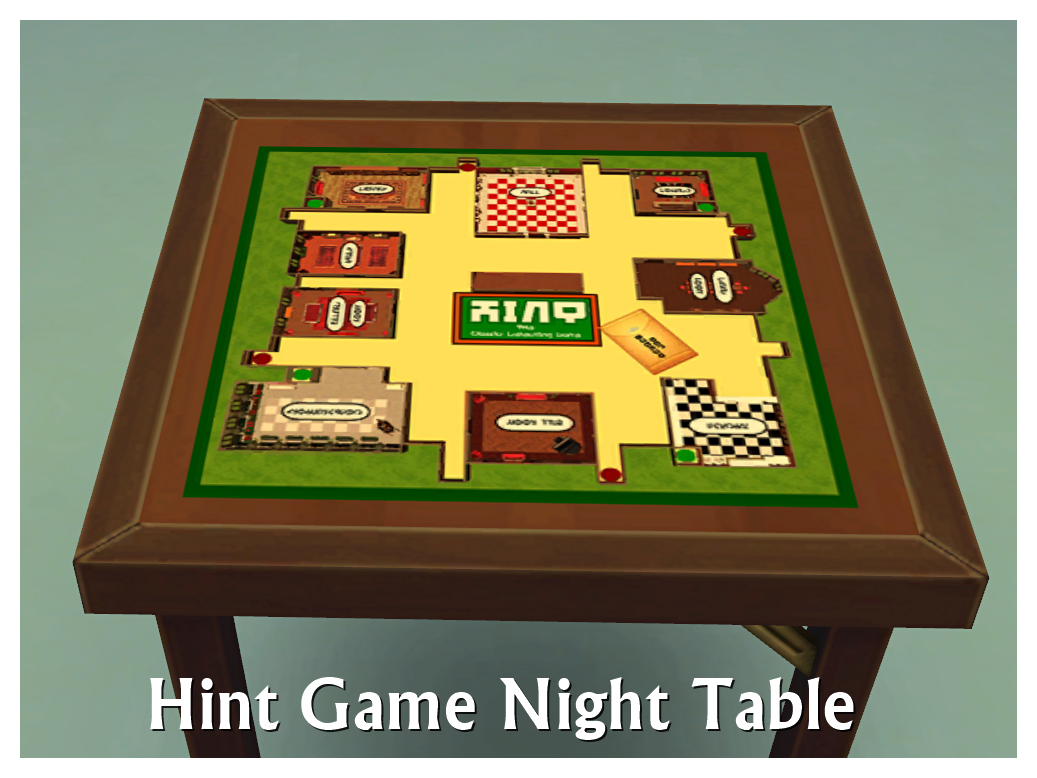 Game Night Glass Tables: My Sims 4 Blog: Game Night Tables By SimDoughnut