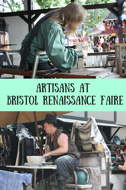 Artisans crafting at the Bristol Renaissance Faire