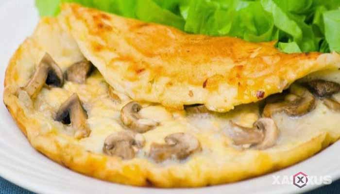 Resep cara membuat omelet jamur tiram