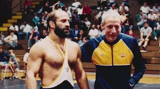 Dave Schultz, John du Pont in Team Foxcatcher