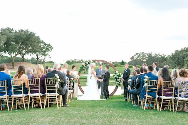 wedding ceremony outdoors villas at grand cypress