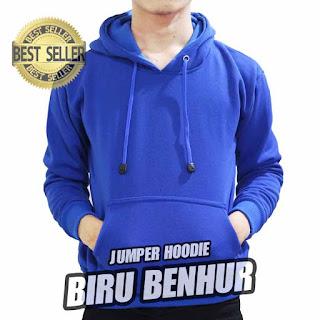 hoodie jumper polos biru benhur
