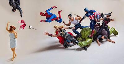 Los super héroes enamorados de La viuda negra
