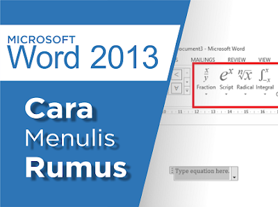 Menulis rumus di ms word