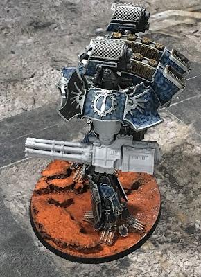 Legio Tempestus Warlord Battle Titan for Adeptus Titanicus - Macro Gatling Blaster