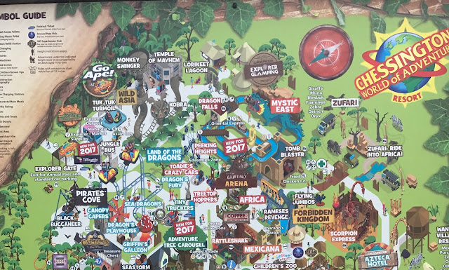 Part of the map for Chessington World of Adventures