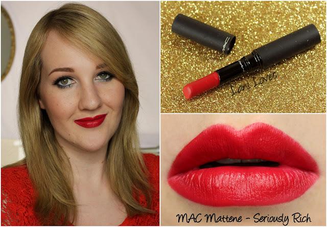 MAC Seriously Rich Mattene lipstick swatch