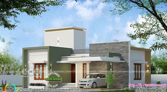 950 square feet 3 bedroom flat roof budget house