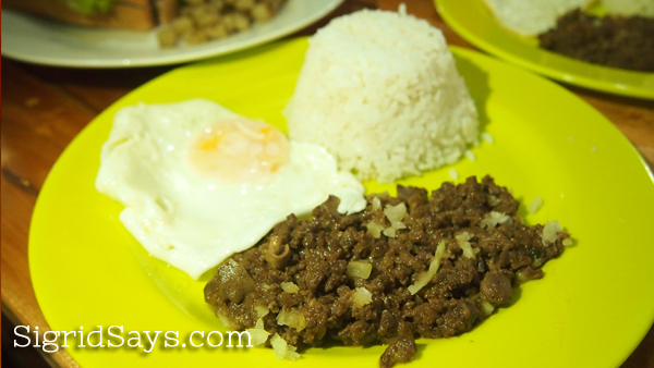 Ginger Lime Diner chicken sisig