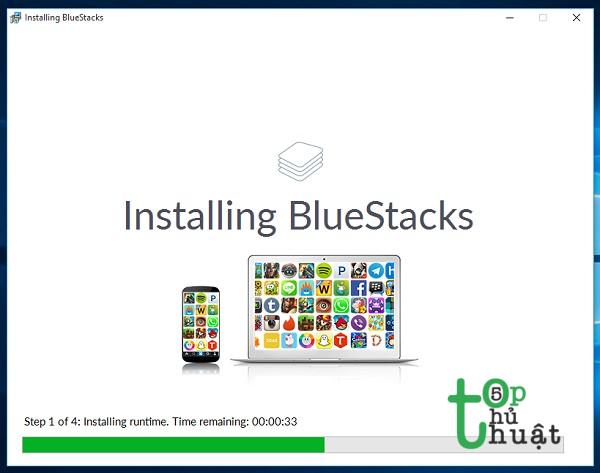 Install phần mềm BlueStacks